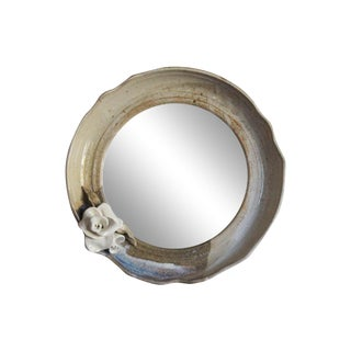 Round Pottery Wall Mirror For Sale