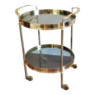 1960s Italian Mid-Century Modern Tiered Bar Cart For Sale