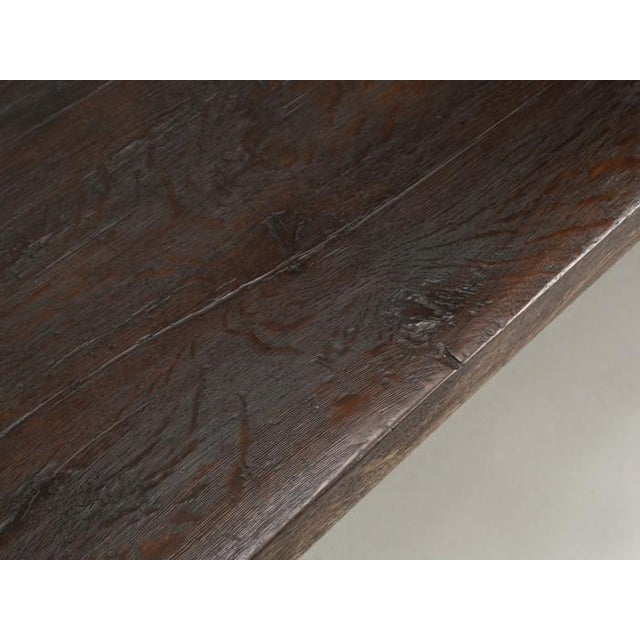 Brown Antique French Oak Trestle Dining Table For Sale - Image 8 of 13