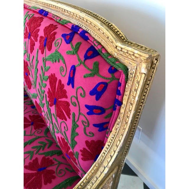 French Boho Settee For Sale - Image 5 of 13