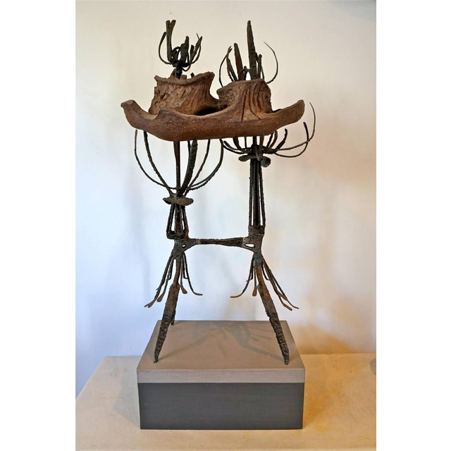 Clay and Metal Sculpture by Leon Roloff For Sale - Image 9 of 10