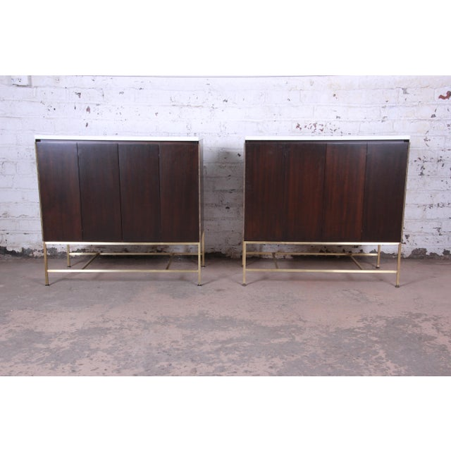 Paul McCobb Irwin Collection Mahogany and Brass Sideboard Cabinets (2 Available) For Sale - Image 13 of 13