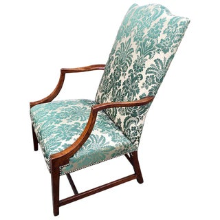 American Hepplewhite Lolling Chair, Ma or Nh For Sale