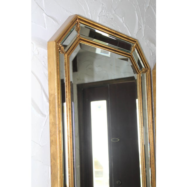 1950s Italian Gilt Octagonal Mirrors For Sale - Image 4 of 11