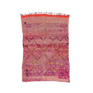 Moroccan Purple & Orange Rug - 5′3″ × 7′6″ For Sale