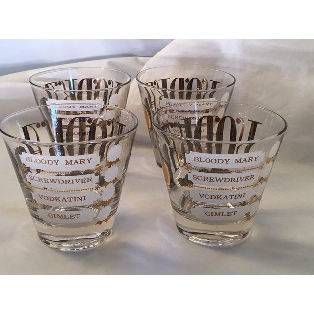 Mid-Century Modern Vintage Jackson Lowell Vodka Glassware Signed - Set of 4 For Sale - Image 3 of 11