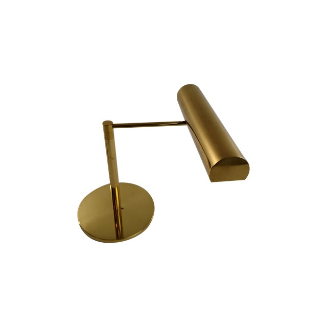 Vintage Restored Brass Desk Lamp - Image 1 of 7