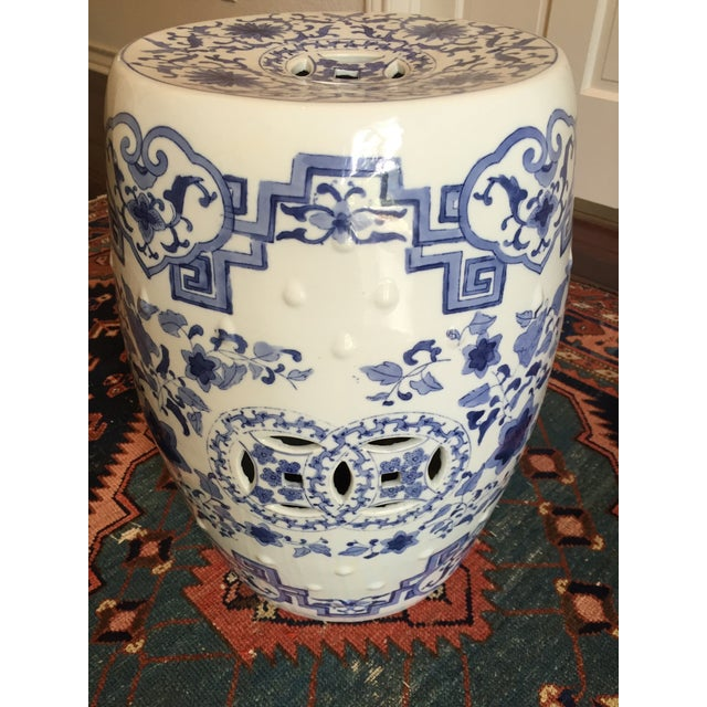 Chinoiserie Ceramic Garden Stool For Sale - Image 5 of 8