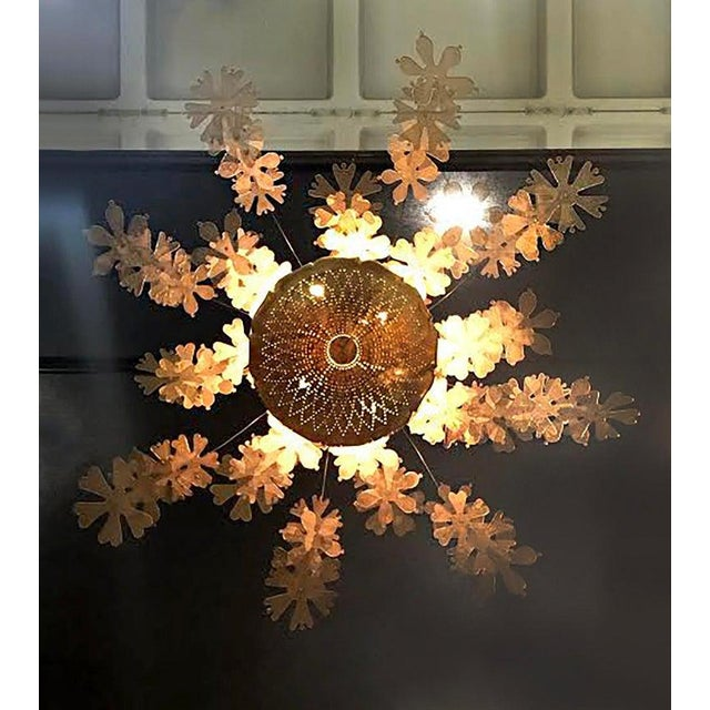 Paavo Tynell Rare and Important Paavo Tynell 'Fantasia' Snowflake Chandelier for Taito Oy For Sale - Image 4 of 12