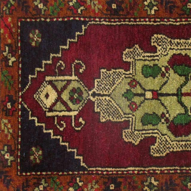 """These simple, hand-knotted rugs, called """"yastik,"""" are woven primarily in the eastern part of Turkey, often by Kurdish..."""