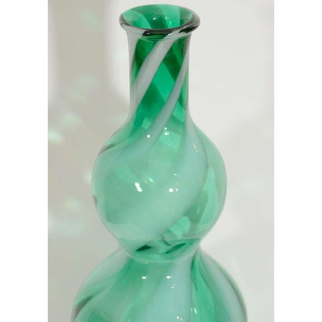 Empoli Glass Vase For Sale - Image 4 of 5
