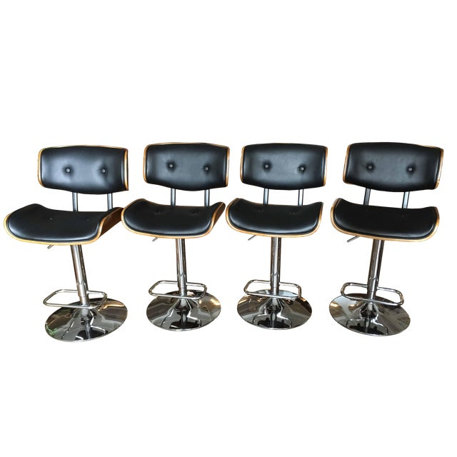 Astonishing Adjustable Bar Counter Stools Set Of 4 Beatyapartments Chair Design Images Beatyapartmentscom