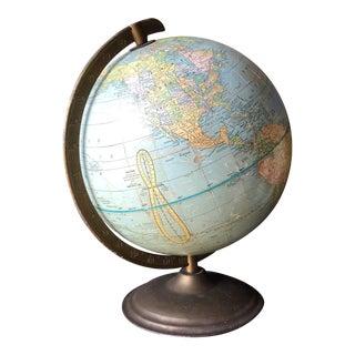 1950s Vintage Metal Globe For Sale