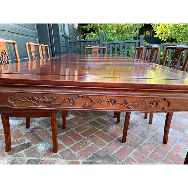 Vintage Solid Rosewood Dining Set - 9 Pieces For Sale - Image 9 of 13