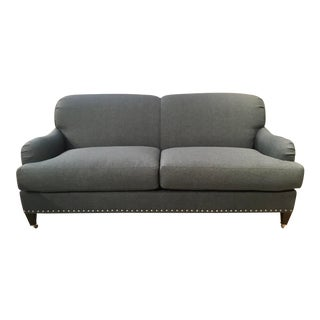 Lillian August Transitional Dark Gray Albert Loveseat For Sale
