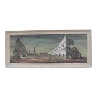 Mid Century Modern Surrealist Matador Painting For Sale
