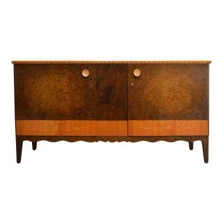 Swedish Art Deco Moderne Intarsia Sideboard Buffet Cabinet For Sale