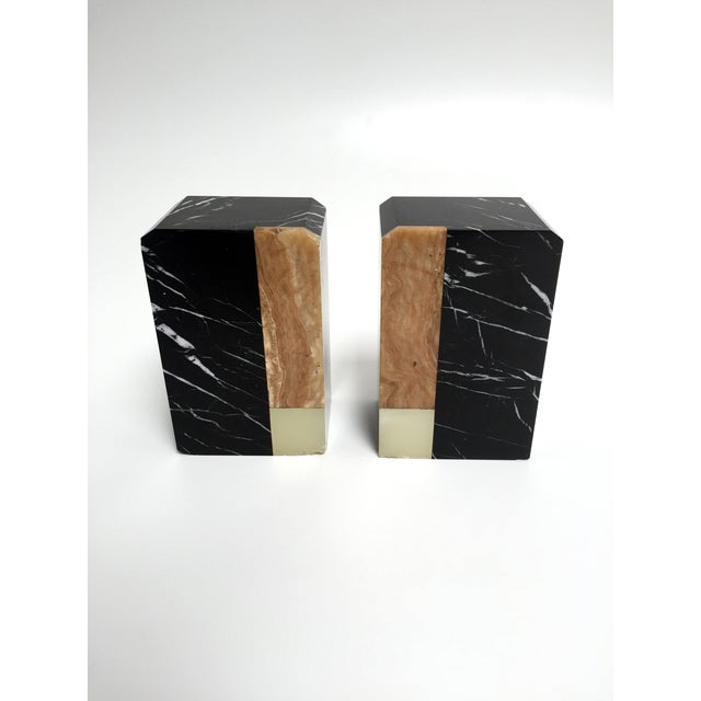 Post-Modern Marble Bookends - A Pair - Image 2 of 9