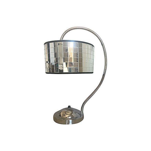 Hollywood Regency Lamp & Shade For Sale - Image 4 of 10