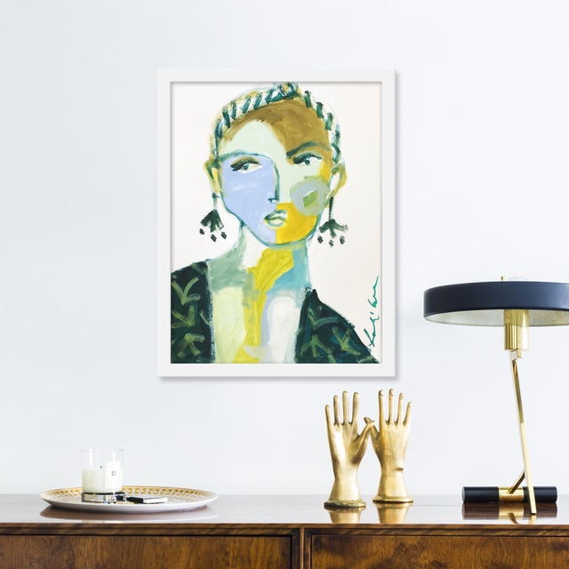 Giclée on textured fine art paper with white frame. Unframed print dimensions: 13.75x18.75. Leslie Weaver is a mixed media...