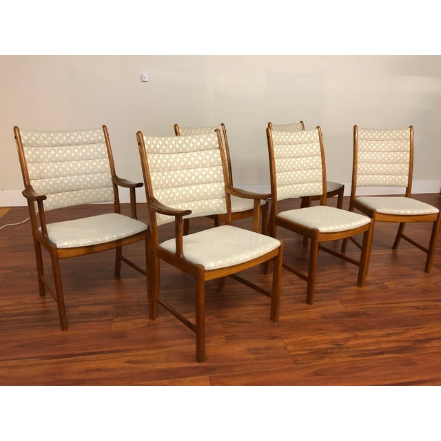 Mid 20th Century Johannes Andersen for Uldum Vintage Teak Dining Chairs - Set of 6 For Sale - Image 5 of 12