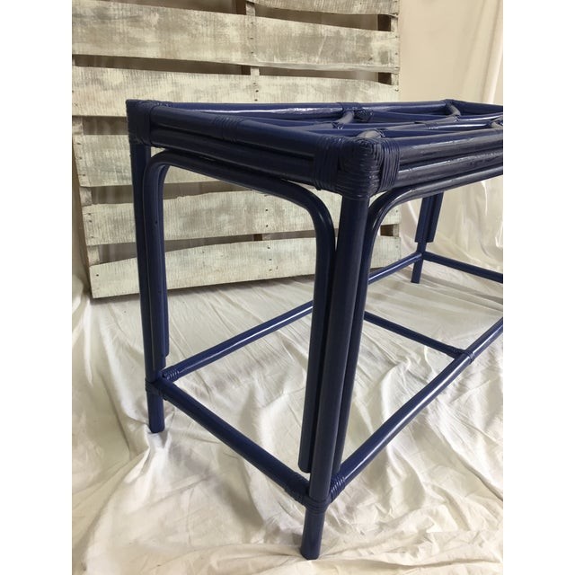 Royal Blue Tani Wood Console Table - Image 7 of 11
