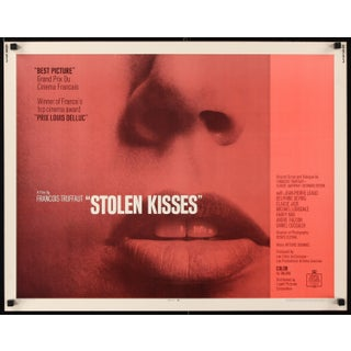 "Vintage François Truffaut ""Stolen Kisses"" Poster For Sale"