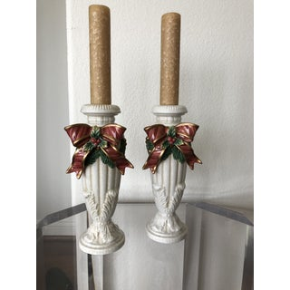 Fitz and Floyd Christmas Candlesticks - a Pair Preview