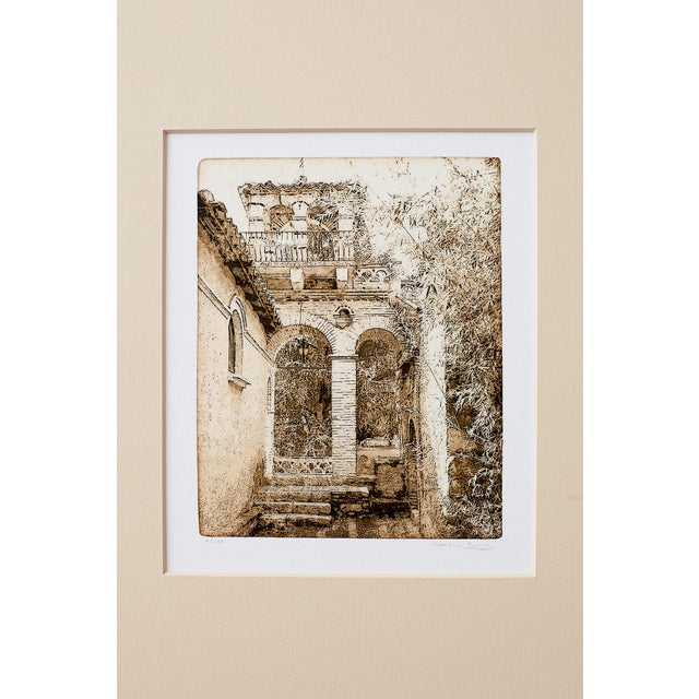 Gold Set of Twelve Architectural Landscape Etchings by Kenneth Gregg For Sale - Image 8 of 13