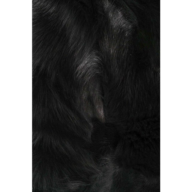 Venfield Genuine Double-Sided Black Fox Pillows For Sale - Image 4 of 5