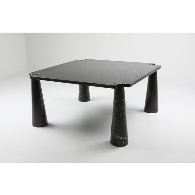 Mid-Century Modern Angelo Mangiarotti 'Eros' Square Marble Dining Table For Sale - Image 3 of 9