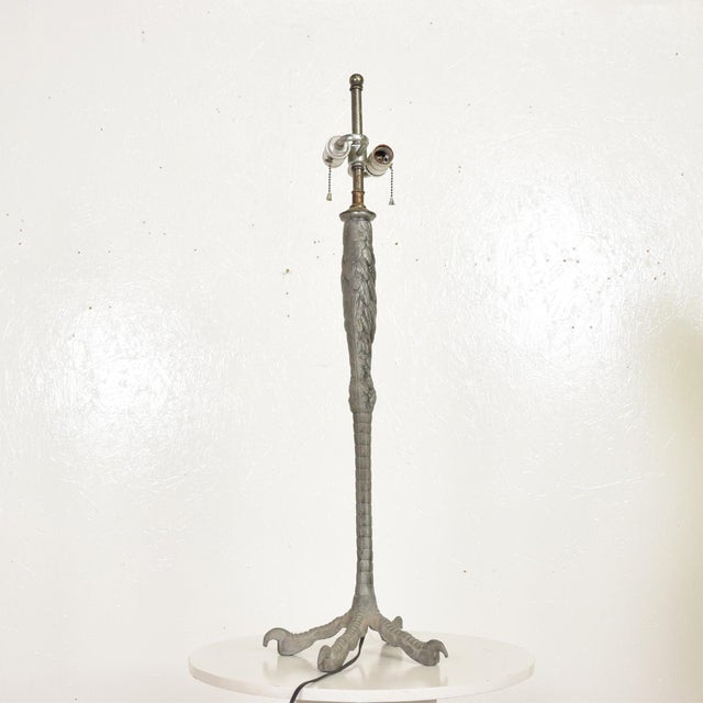 Metal Hollywood Regency Ostrich Eagle Leg Table Lamp For Sale - Image 7 of 11