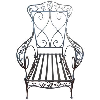 Salterini Style Wrought Iron Armchair by Florentine Craft Studio For Sale