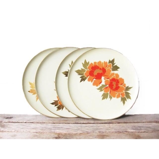 Vintage Otagiri Floral Plates- Set of 4 - Image 2 of 6