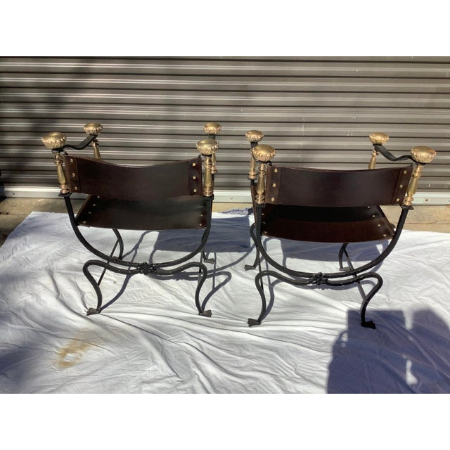 1960s Italian Savaronola Style Chairs, a Pair For Sale In Atlanta - Image 6 of 12