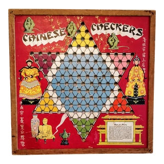 Vintage Chinese Checkers Board Game For Sale