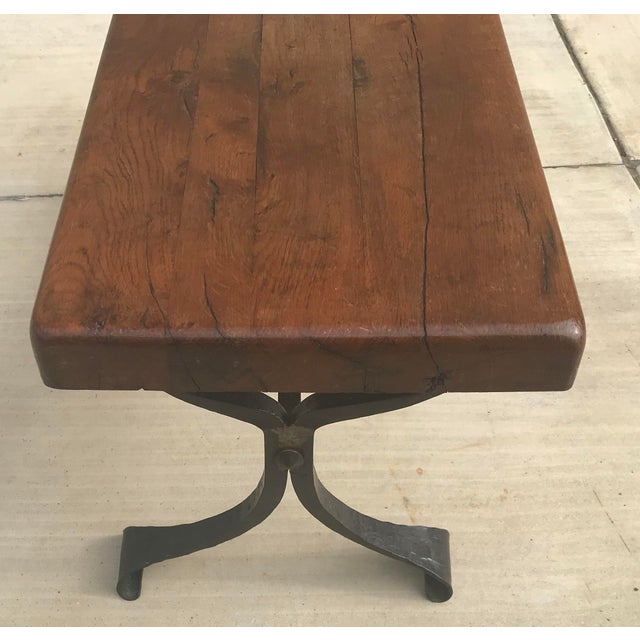 Metal Late 20th Century Rustic French Iron Base Coffee Table For Sale - Image 7 of 12