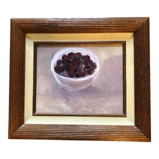 Contemporary Original Impressionist Still Life With Cherries Painting For Sale