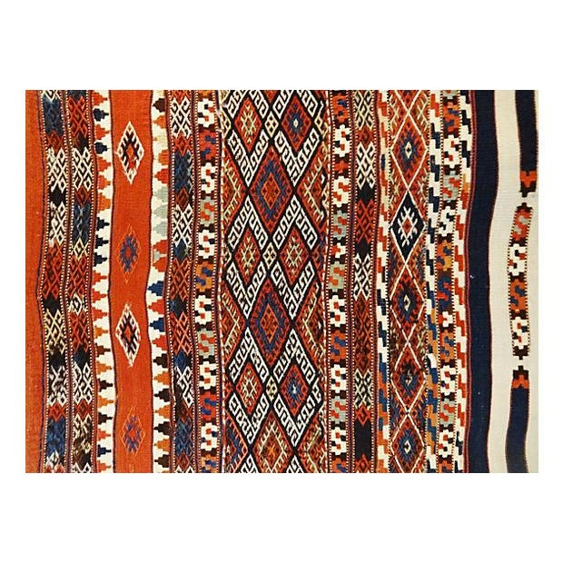 19th Century Azeri Kilim Runner - Image 5 of 7