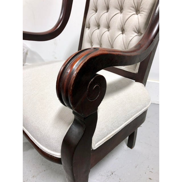 19th Century Antique French Renaissance Throne Armchair For Sale - Image 10 of 12