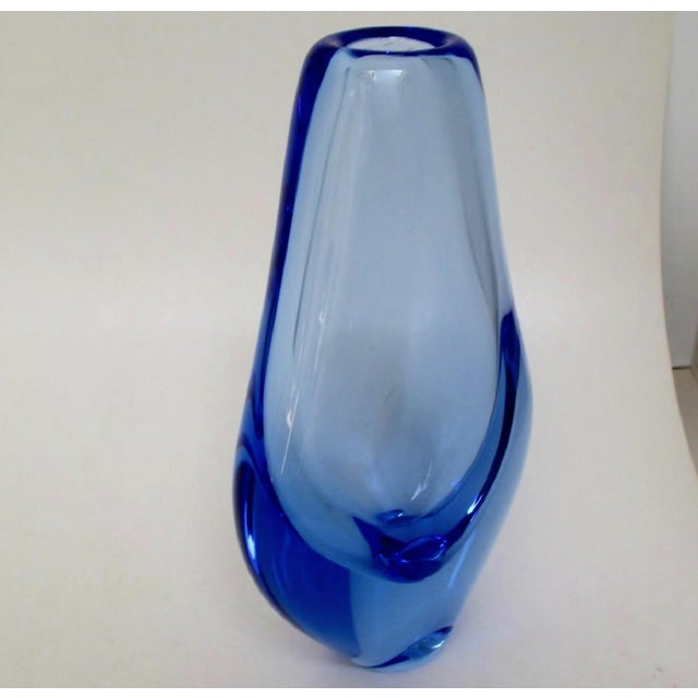 Blue Blown Glass Vase For Sale - Image 4 of 7