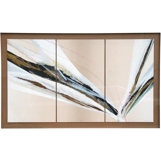 1975 Abstract Serigraph Triptych For Sale