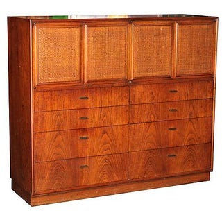 1960s Chest of Drawers with Cane Panels
