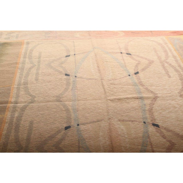 Contemporary Hand-Knotted Contemporary Flat Weave Rug - 6′ × 8′5″ For Sale - Image 3 of 6