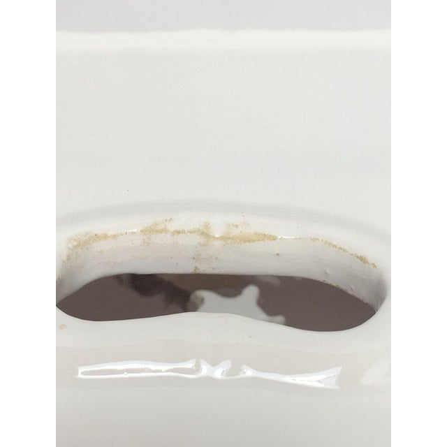Paul Hanson Italian White Porcelain Garden Stool With Bamboo Motif For Sale - Image 9 of 13