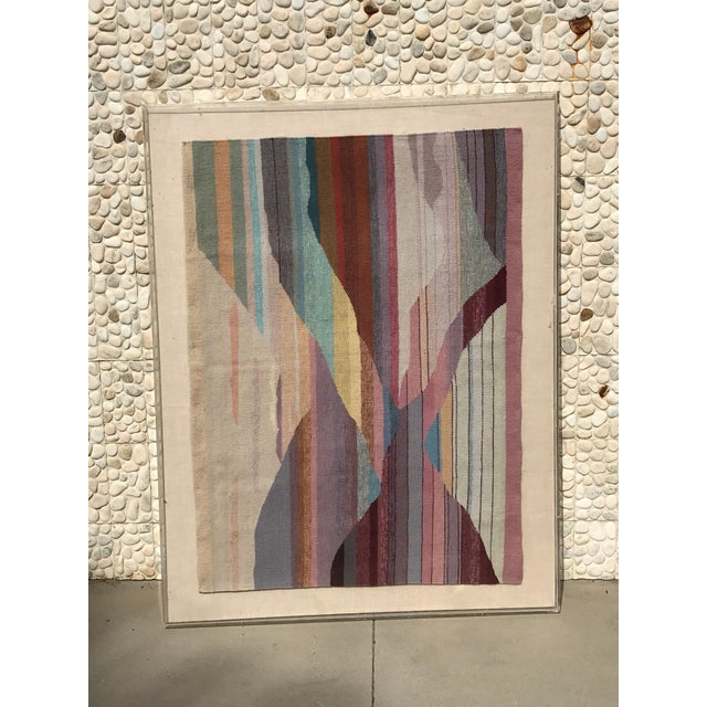 Steve Chase Handwoven Abstract in Plexi Case From a Steve Chase Palm Springs Estate For Sale - Image 4 of 10
