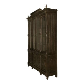 Bookcase, French Ebonized Walnut with Original Finish For Sale