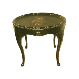 18th Century Carved English Tole Table For Sale