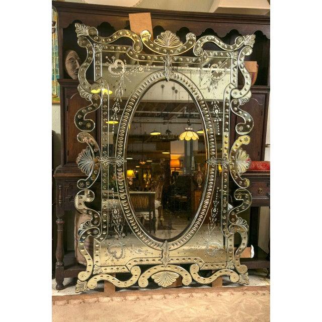 Monumental Venetian Mirrors - A Pair - Image 2 of 8