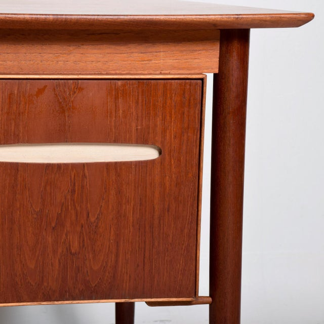 Danish Modern Mid-Century Danish Modern Koford Larsen Era Teak Receiving Desk Bookshelf For Sale - Image 3 of 11